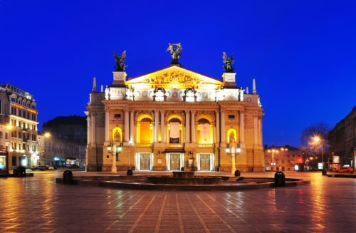 Lviv theater of opera and ballet. Ukraine.